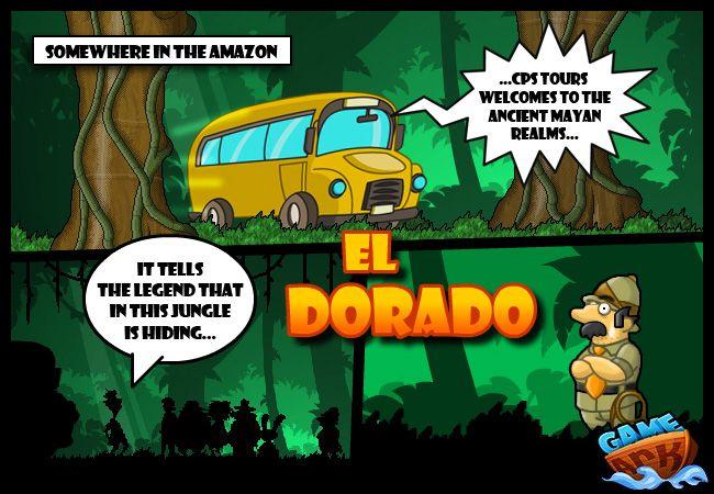 """El Dorado Şehrindeki HazineBay Clumsy meşhur """" El Dorado"""" şehrini buldu, Ölümcül tuzaklar, zombiler, yılanlar ve yarasalarla dolu bölümlerden çıkmak için altın totemi bulun...ve çıkmadan önce tüm hazineyi toplamayı unutmayın. Hareket için yön tuşlarını kırbaçla vurmak için boşluk tuşlarını kullanın."""