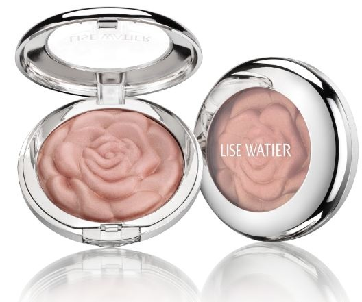 Lise Watier Illuminating Face & Body Powder: a versatile powder ideal for illuminating the neckline with a soft pearly shade or for adding a touch of glimmer on the eyelids and cheeks. (The name is pronounced, /lease wa•ti•ā/. ā creates a long 'A' sound, as in the word 'way'.)