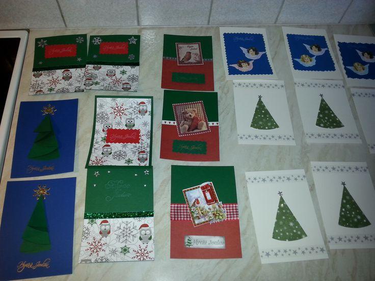 Joulukorttiaskartelua hyvän ystävän kanssa <3