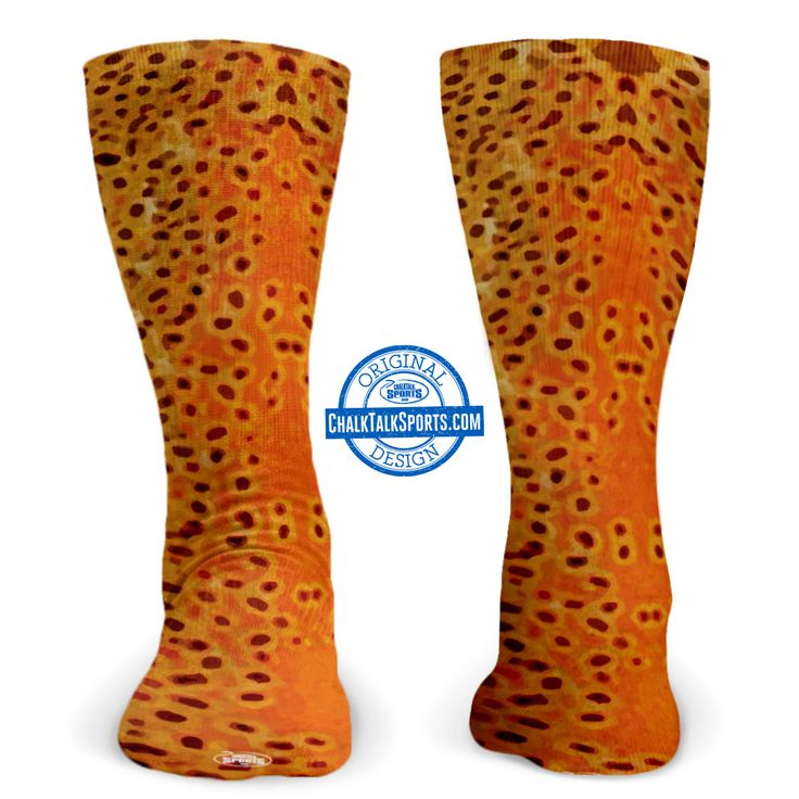 Brownfish Mid Calf Socks - a great gift for Fly Fishers!