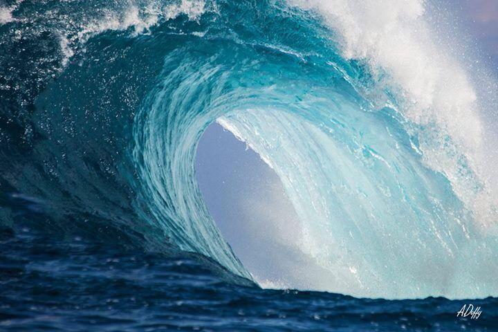 Photo of big blue wave #hawaii  Www.adamduffyphotography.com