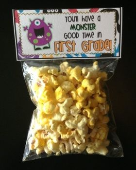 Meet the Teacher Night Goodie Bag Tags! (Monster Themed!) Print tags for all grade levels, Pre-K through 5th grade!