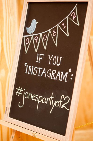wedding hashtag - great idea to make sure you see ALL your wedding pics :)