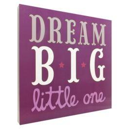 Dream Big Wall Art - Purple - kids room - baby room - nursery