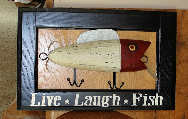 Under A Pile of Scrap!: Fish Lure sign #mancave