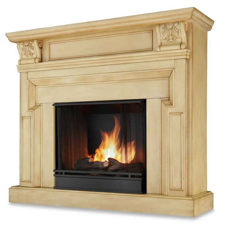Real Flame Kristine Antique White Gel Fireplace