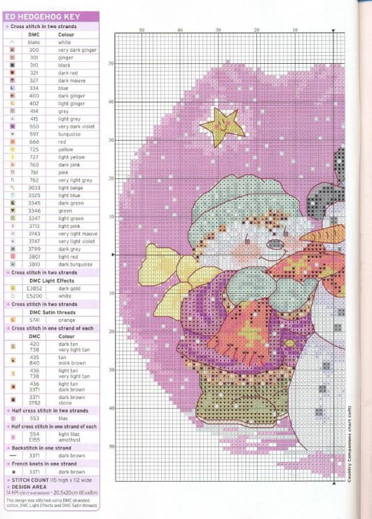 Gallery.ru / Photo # 10 - The world of cross stitching 144 - Olechka54 Ed Hedgehog and companion cross stitch part 1