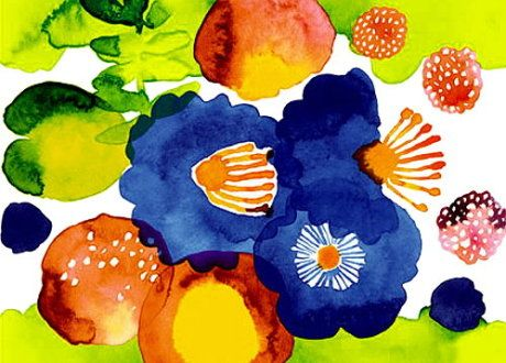 A beautiful and bright Marimekko pattern!
