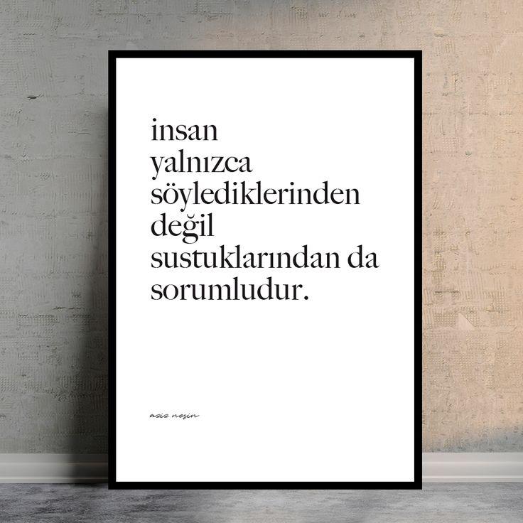 Aziz Nesin / Sustuklarımız. Doovar'dan Türkçe Posterler!