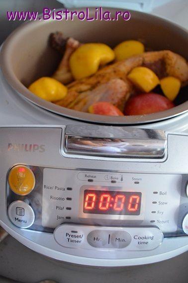 Rata cu gutui si mere la Philips Multicooker