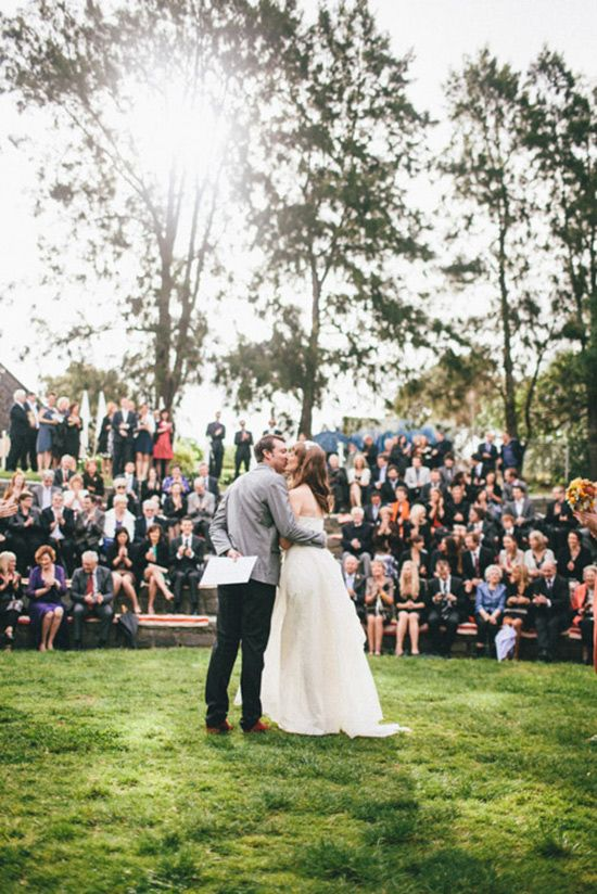Footscray community arts centre ampitheatre autumn wedding - Polka Dot Bride