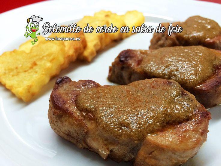 Solomillo de cerdo en salsa de foie
