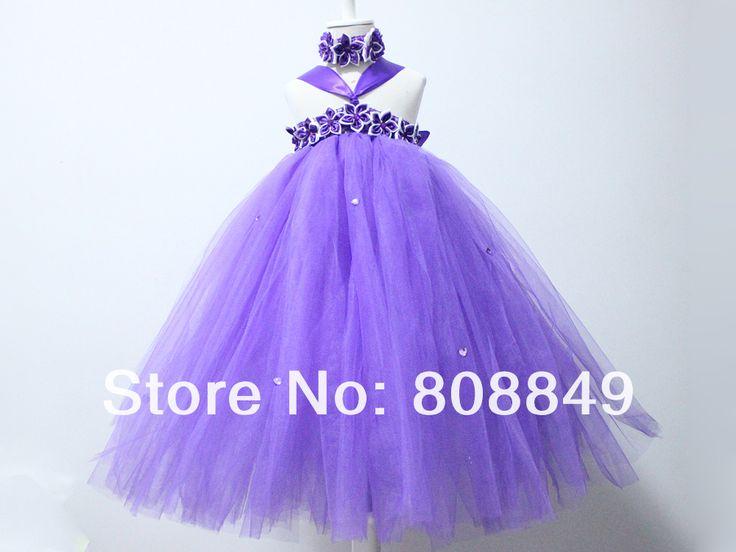 Голеностопного длина платья балетной пачки для новорожденных девочек фиолетовый цветок пачки принцесса ну вечеринку вечерние платья с повязка на голову 1 компл. бесплатная доставка, принадлежащий категории Платья и относящийся к Детские товары на сайте AliExpress.com | Alibaba Group