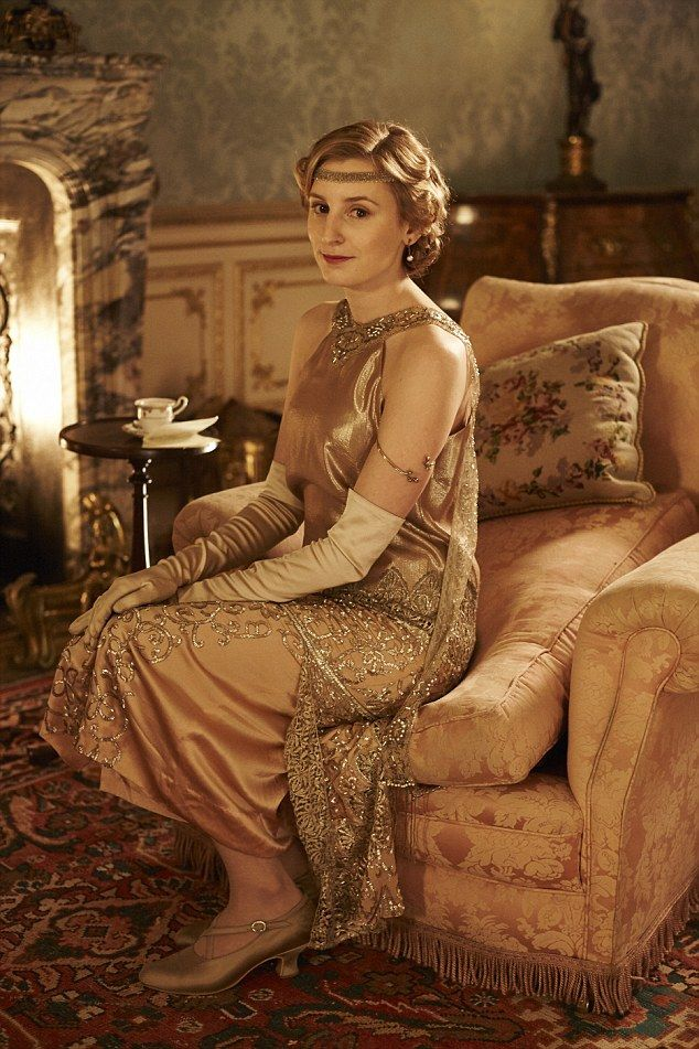 Lady Edith Crawley, played by Laura Carmichael, wears a gown sourced by Anna Robbins