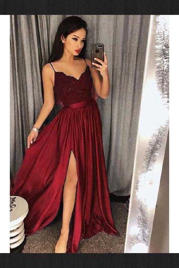 V Neck Prom Dress, Prom Dress Ball Gown, Lace Prom Dress, Bridesmaid Dresses 201…