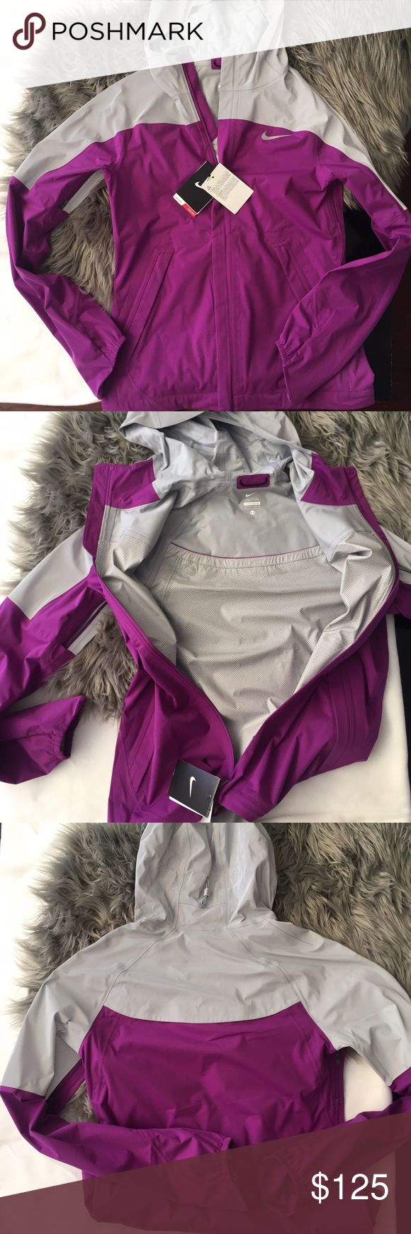 nike/ women's running jacket Brand new with tags! Beautiful running jacket. Super reflective and ventilated. No flaws, just didn't fit me :( Nike Jackets & Coats