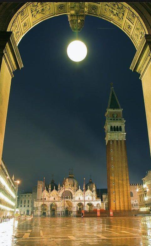 Saint Marcos Square At Night – Venice, Italy