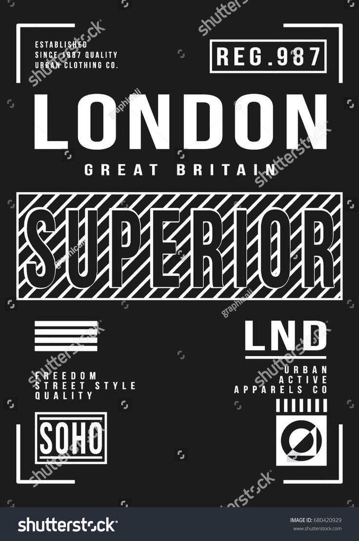 Cool urban typography, t-shirt graphics, vectors