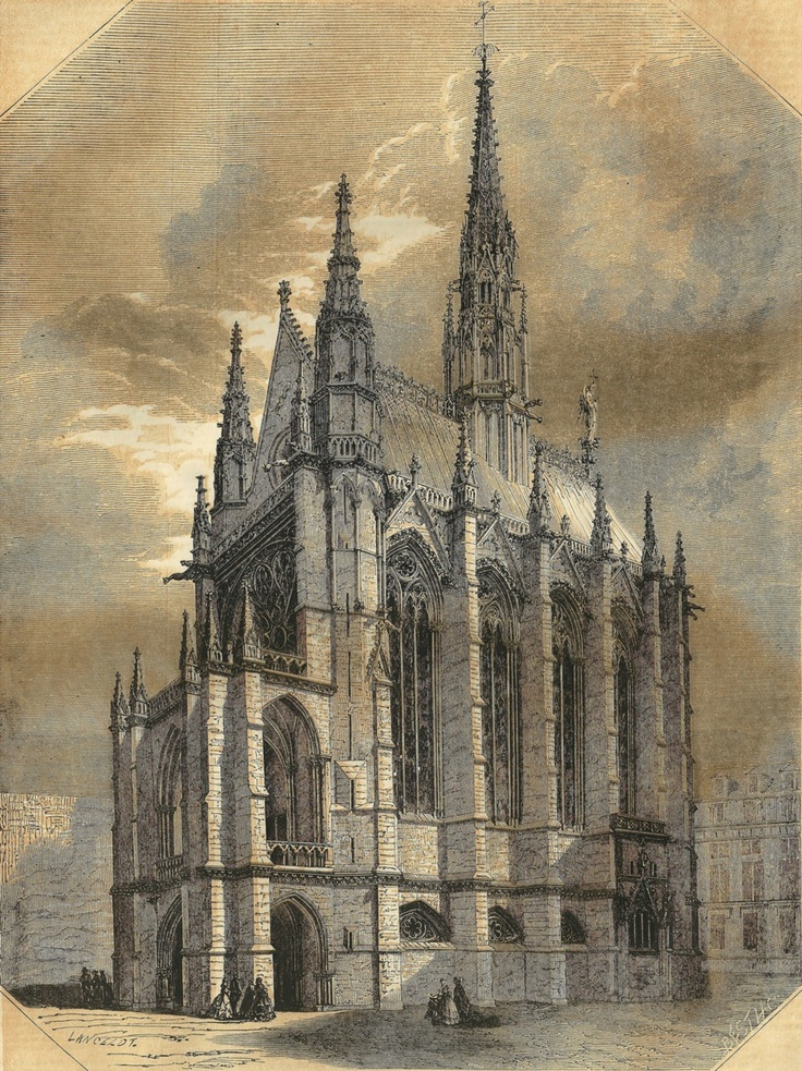 Sainte Chapelle Cathedrals Heritage Image