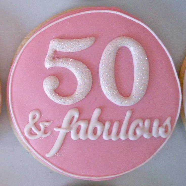 50th Birthday Cookie