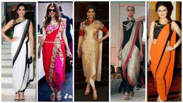 Dhoti Style Saree Draping
