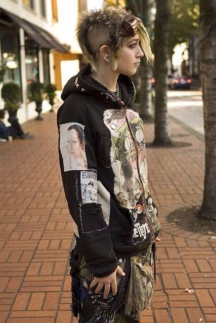 Crust punk style dresses