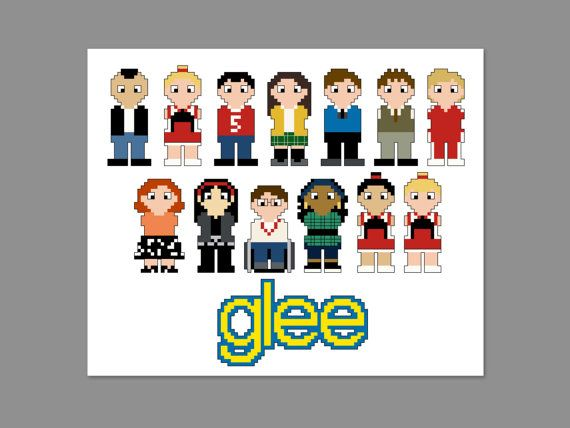 Glee Pixel People Character Cross Stitch PDF by CheekySharkLabs