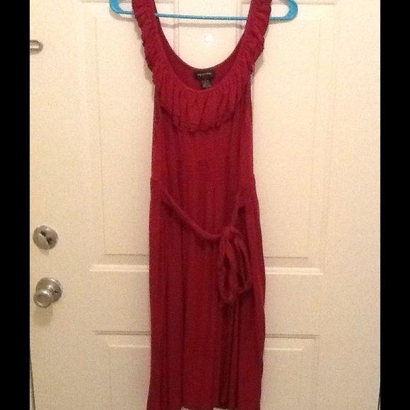 Garnet dress Garnet dress with tie Spense Dresses