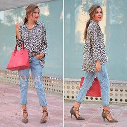 Helena Cueva - Zara Blouse, Choies Jeans, Zara Heels, Primark Handbag - Leopard Print