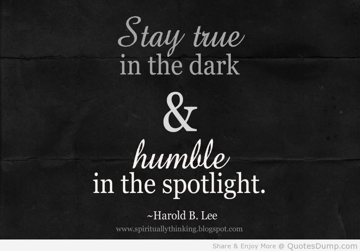 life Quotes spiritually speaking about true and humble person
