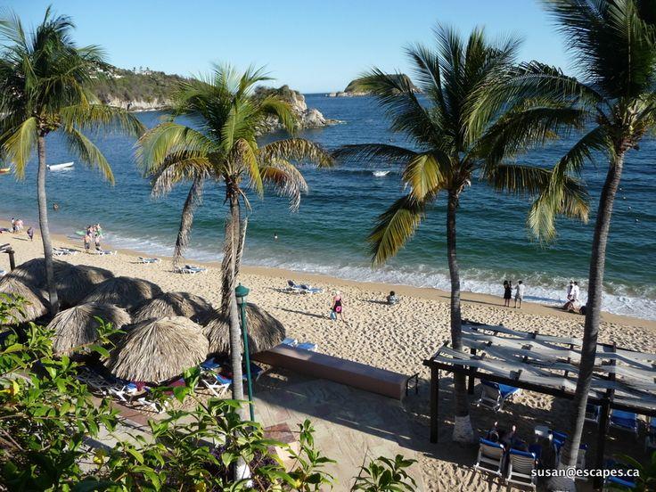 Barcelo Huatulco, a 451 room resort located on a superb beach.