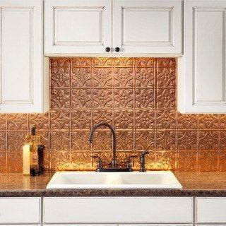 Fasade Traditional Style #1 Polished Copper Backsplash 18-inch x 24-inch Panel   Overstock.com Shopping - The Best Deals on Backsplash Tiles