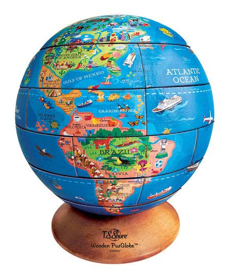 T.S. Shure 3-D Wood Puzzle Globe | zulily