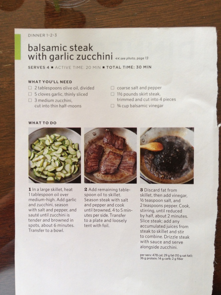 BALSAMIC STEAK WITH GARLIC ZUCCHINI | Mouth Watering: Beautiful Food ...