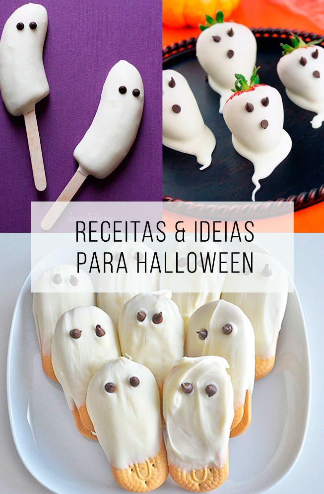 Quer ideias diferentes para o Dia Das Bruxas? Aqui tem um monte de inspirações e receitas! // palavras-chave: festa de Halloween, receitas para halloween, festa de  dia das bruxas, receita com fantasma, fantasminha, bruxas, receitas doces, sobremesas, receitas salgadas, tema de halloween.