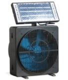 Solar Powered Fan for Room, or Desk Can Mount in Window Room Ventilator with Removable Solar Panel