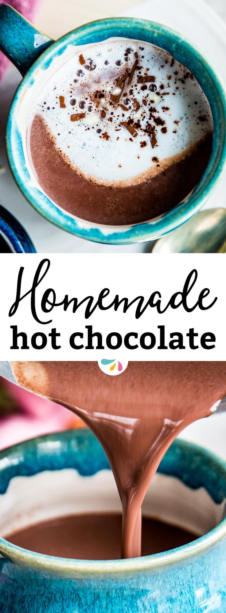 Homemade hot chocolate is a delicious and decadent drink.