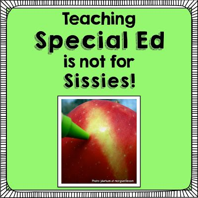 Read~Write~Create : Teaching Special Ed is not for Sissies!