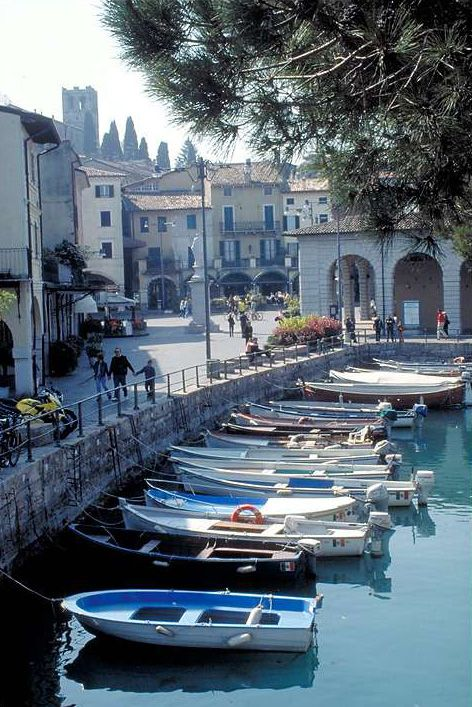 Desenzano del Garda, Lake Garda, Italy, this is the place we used to eat on an evening