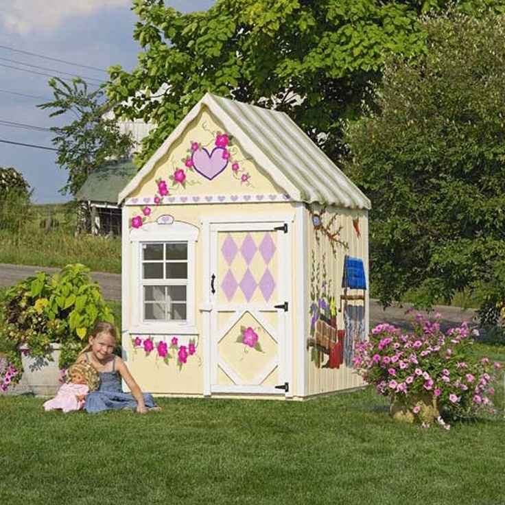 Amish made 4x4 sweetbriar playhouse w floor kit for Sweetbriar garden homes