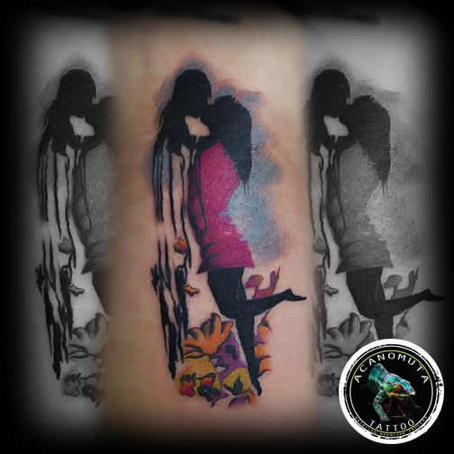 The diver and the mermaid...created by Acanomuta tattoo studio the best studio in Athens