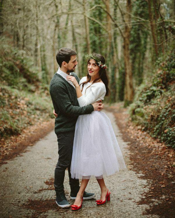 Boda indie en el bosque · Boda de invierno en el País Vasco