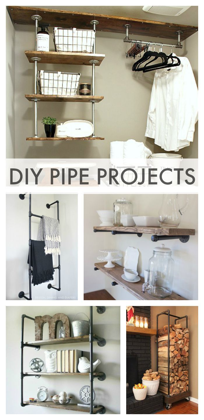 DIY Industrial Pipe Projects For bathrooms/closets