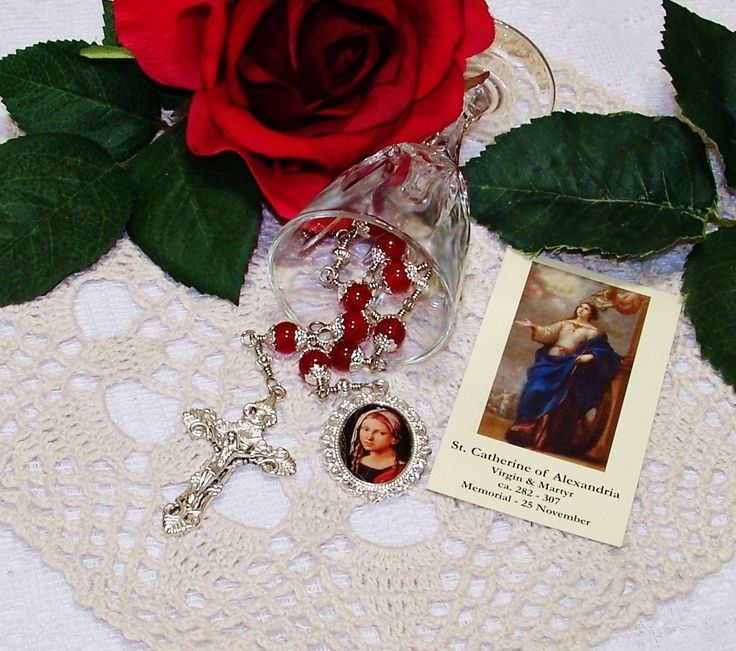 Unbreakable Catholic Chaplet of St. Catherine of Alexandria - Patron Saint of Teachers, Lawyers, Librarians, Potters, Secretaries & Students by foodforthesoul on Etsy
