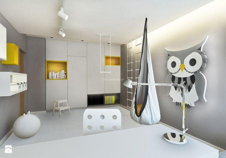 Dom z kominkiem w roli głównej - Średni pokój dziecka dla chłopca dla dziewczynki dla ucznia dla nastolatka, styl nowoczesny - zdjęcie od LIVING BOX