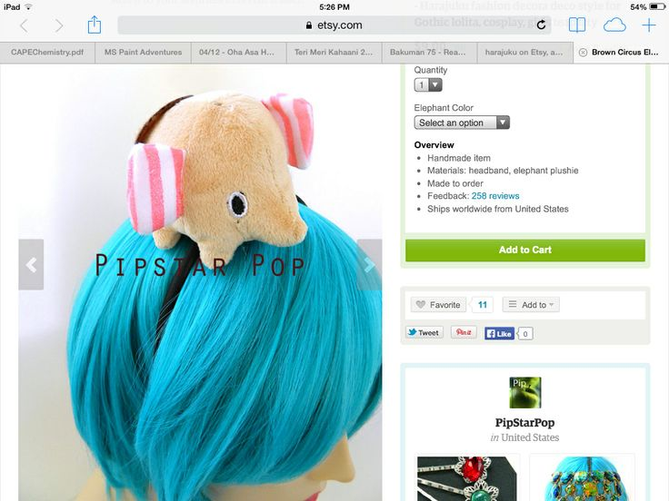 Elephant headband (could also be a plush)