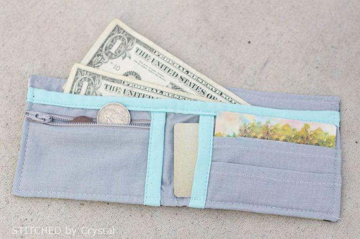 Boys (or girls) Bi-fold Fabric Wallet - Tutorial via Make It and Love It