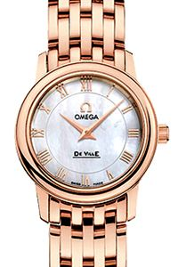 womans omega watch in rose gold | 4116.70.00 - Omega De Ville Prestige 22mm 18kt Rose Gold Women's Watch ...