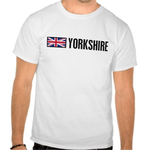 UK Yorkshire Union Jack T-shirt. Comfortable, casual and loose fitting, our heavyweight t-shirt will quickly become one of your favorites. Made from 6.0 oz, pre-shrunk 100% cotton, it wears well on anyone. We've double-needle stitched the bottom and sleeve hems for extra durability.