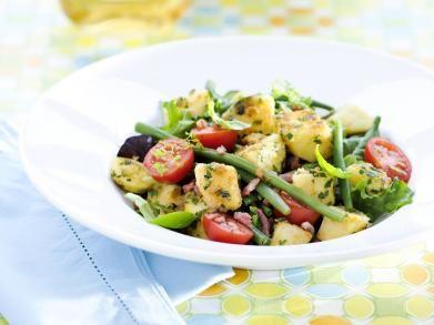 Aardappelsalade met spek en kruidengremolata (Libelle Lekker!)